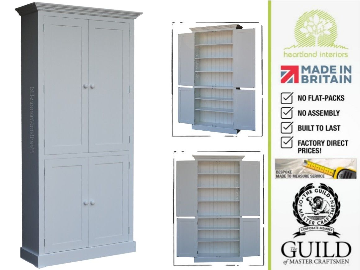 Contemporary Painted, 7ft Tall Multi-Purpose Storage Cupboard 7KPC4 ...