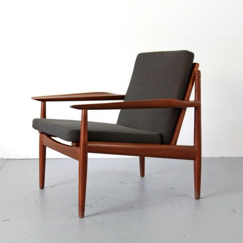 easy chair by arne vodder for glostrup denmark danish modern teak rh pinterest com ebay danish modern dining chairs ebay mid century modern furniture