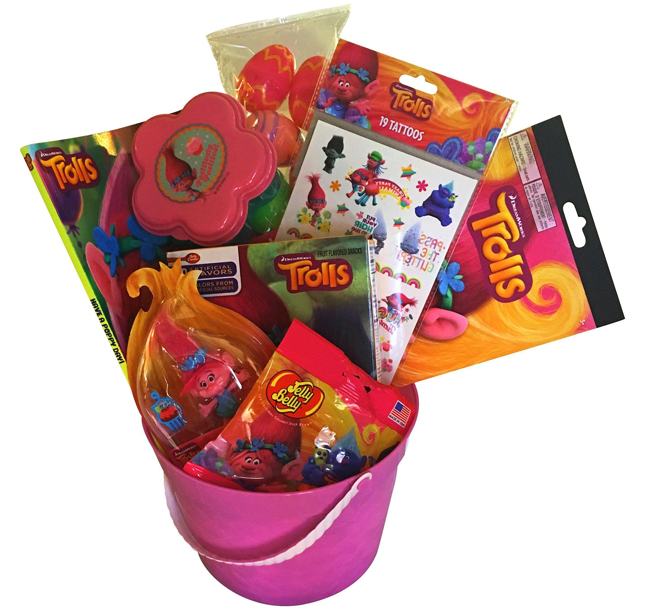 Troll easter basket perfect gift basket get well birthday and troll easter basket perfect gift basket get well birthday and other occasions negle Images
