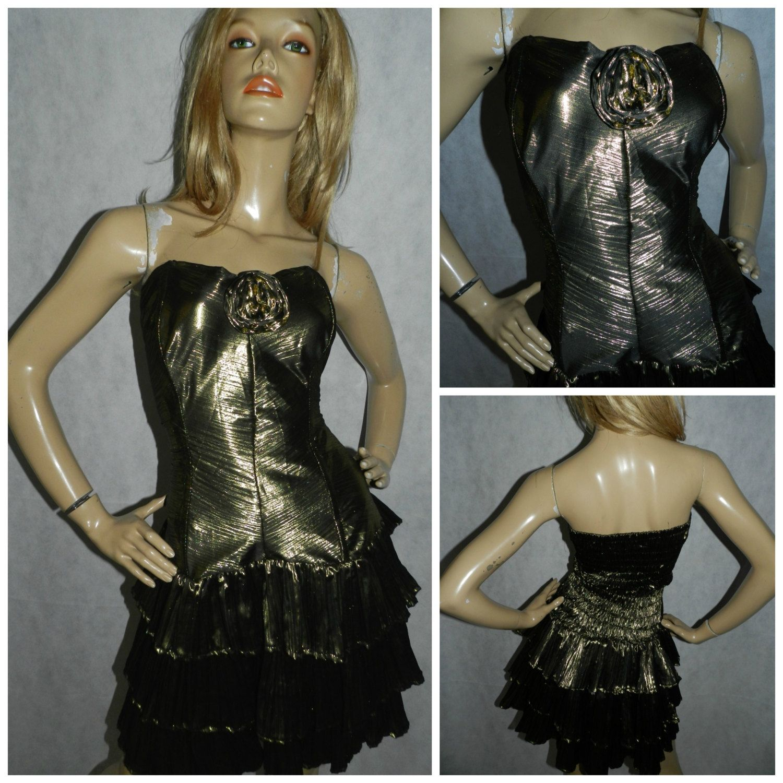 Vintage 1980s Metallic Gold Strapless Tacky Prom Party Dress Etsy Prom Party Dresses 80s Fancy Dress 80s Dress [ 1500 x 1500 Pixel ]