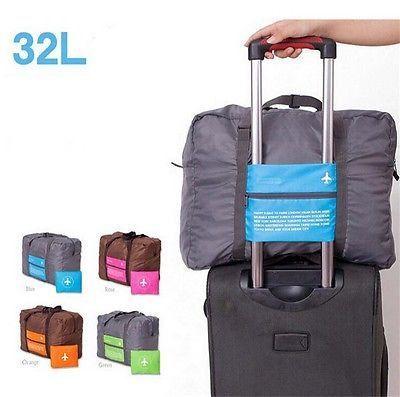 Travel Luggage Bag Huge Capacity Expandable Folding Carry-on Duffle bag  Foldable Travel Bag blue 23e120c466ded
