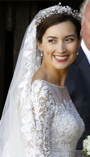Princess Claire Wife Of Prince Félix Wearing The Large Fl Tiara Luxembourg 19th C Diamonds Gold Silver