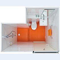 La salle d eau pr fabriqu e aquanova offre une douche confortable un wc et un lavabo sur une - Salle de bain prefabriquee ...