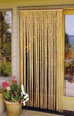 Master Garden Products Natural Beaded Bamboo Curtain, 36 By 78 Inch, $58