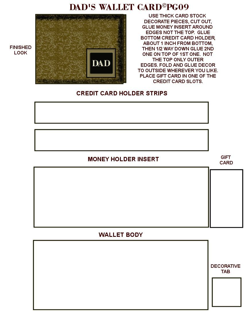 Dads Wallet Card Template I Made Card Templates Free Money Holders Card Card Templates