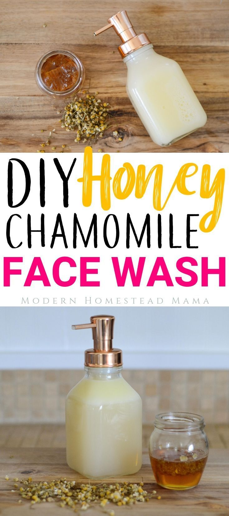 DIY Face Wash - Honey Chamomile For Sensitive Skin and Anti-Aging