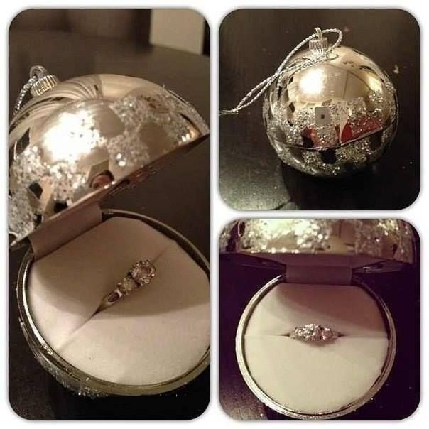 Charming Engagement Ring In Christmas Ornament Part - 1: Ornament Engagement Ring Surprise