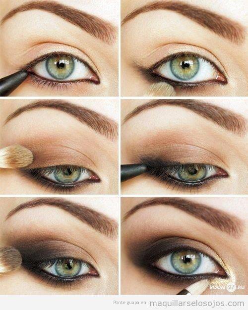 Tutorial maquillaje ojos ahumados paso-a-paso Peinados Pinterest