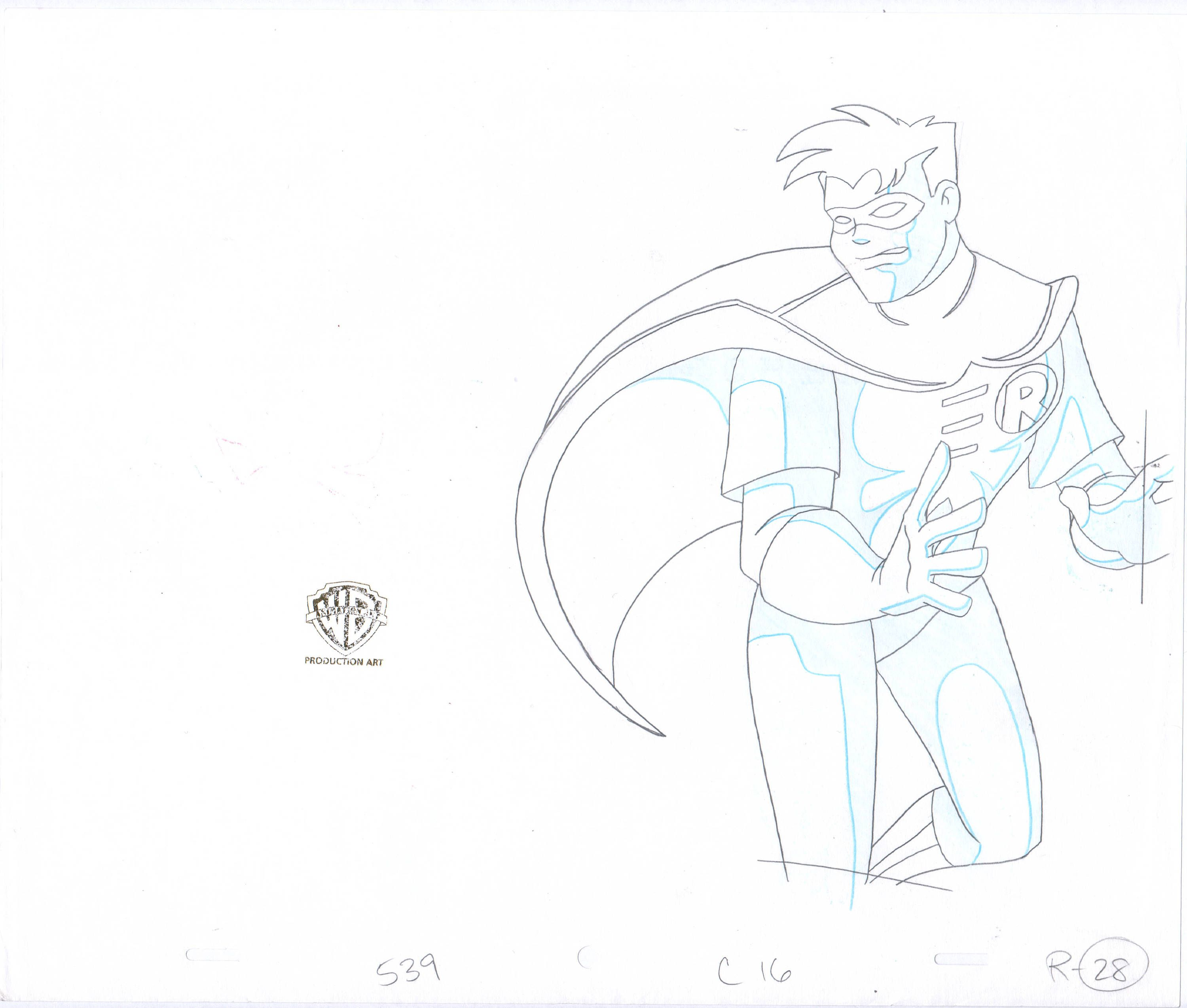 Batman The Animated Series Production cel Drawing Warner Brothers Penguin by CharlesScottGallery on Etsy