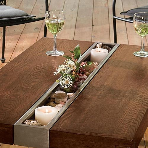 Solid Stainless Steel Coffee Table: Solid Ash Wood Table From Acacia