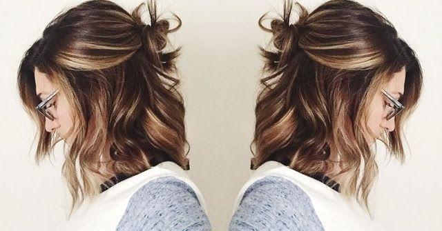 PRODUTINHOS NO CABELO : Half Bun Coque com cabelo solto