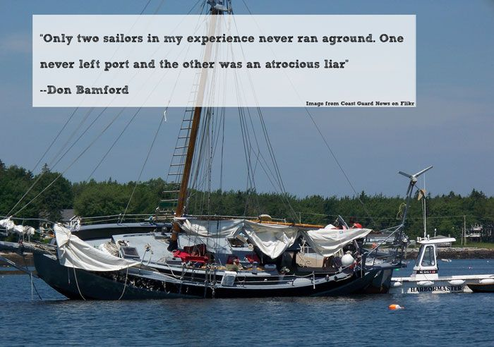 Great Sailing Quotes: Run Aground Sailing Quote