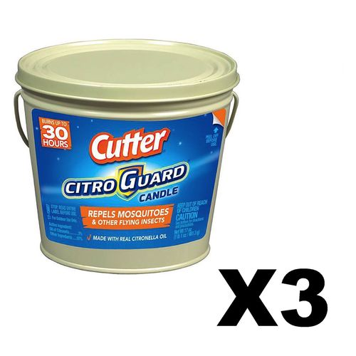 Cutter Citro Guard Candle Bucket 17 oz (3 Pack)