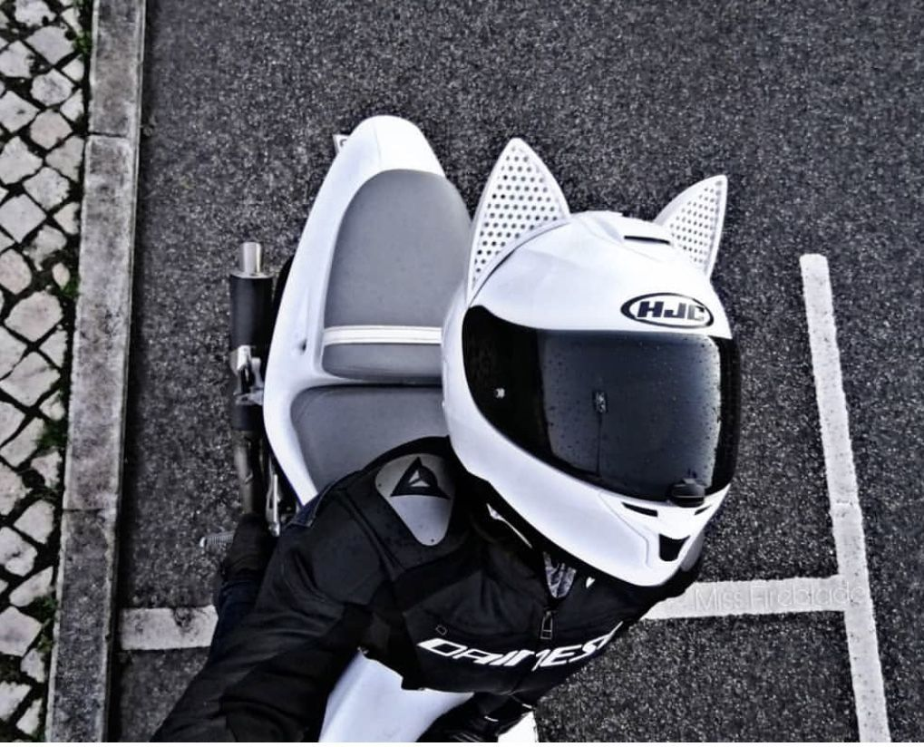 Motorcycle Helmet Accessory The Cat Ear Upgrade from