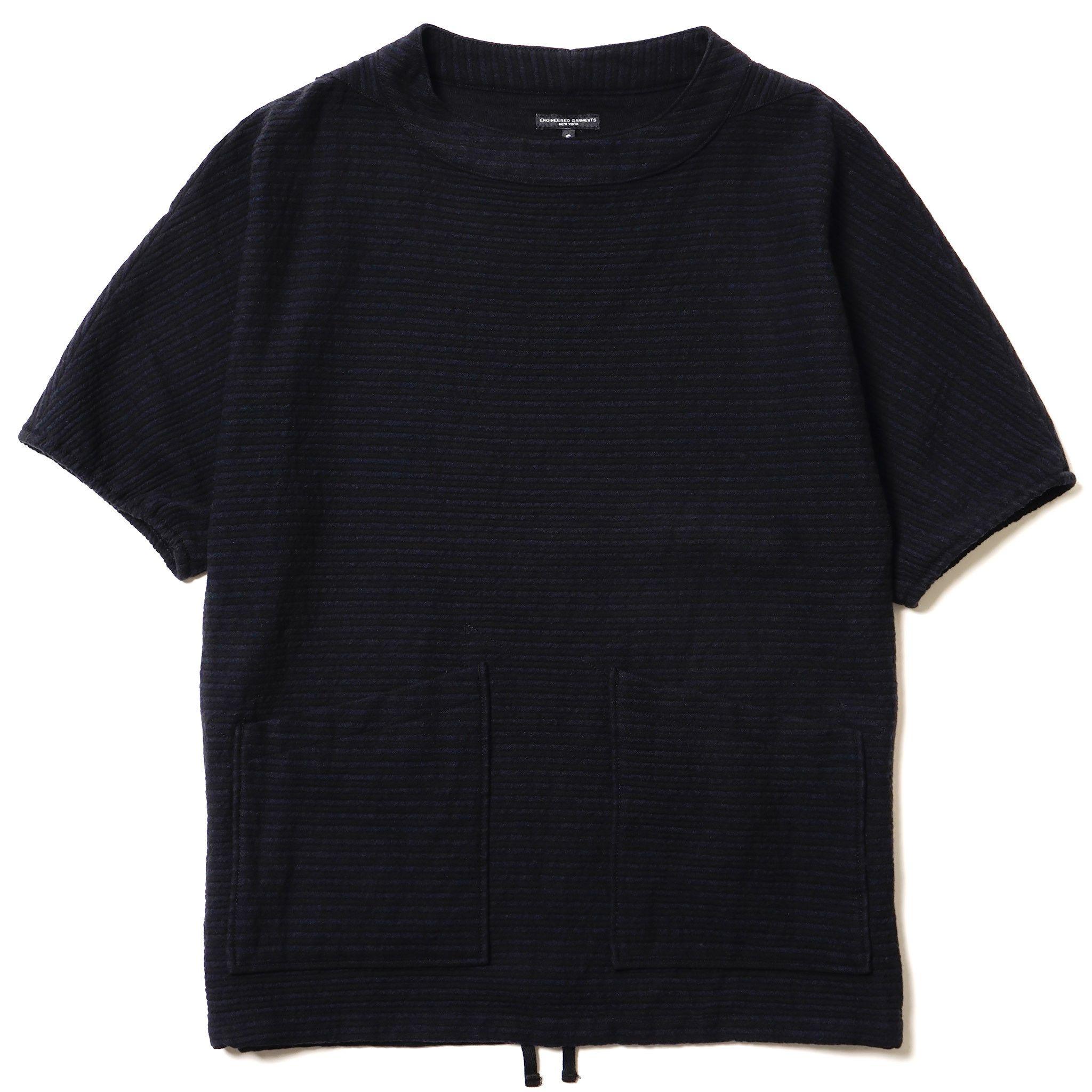 Engineered Garments S/S Smock - Wool Horizontal Stripe