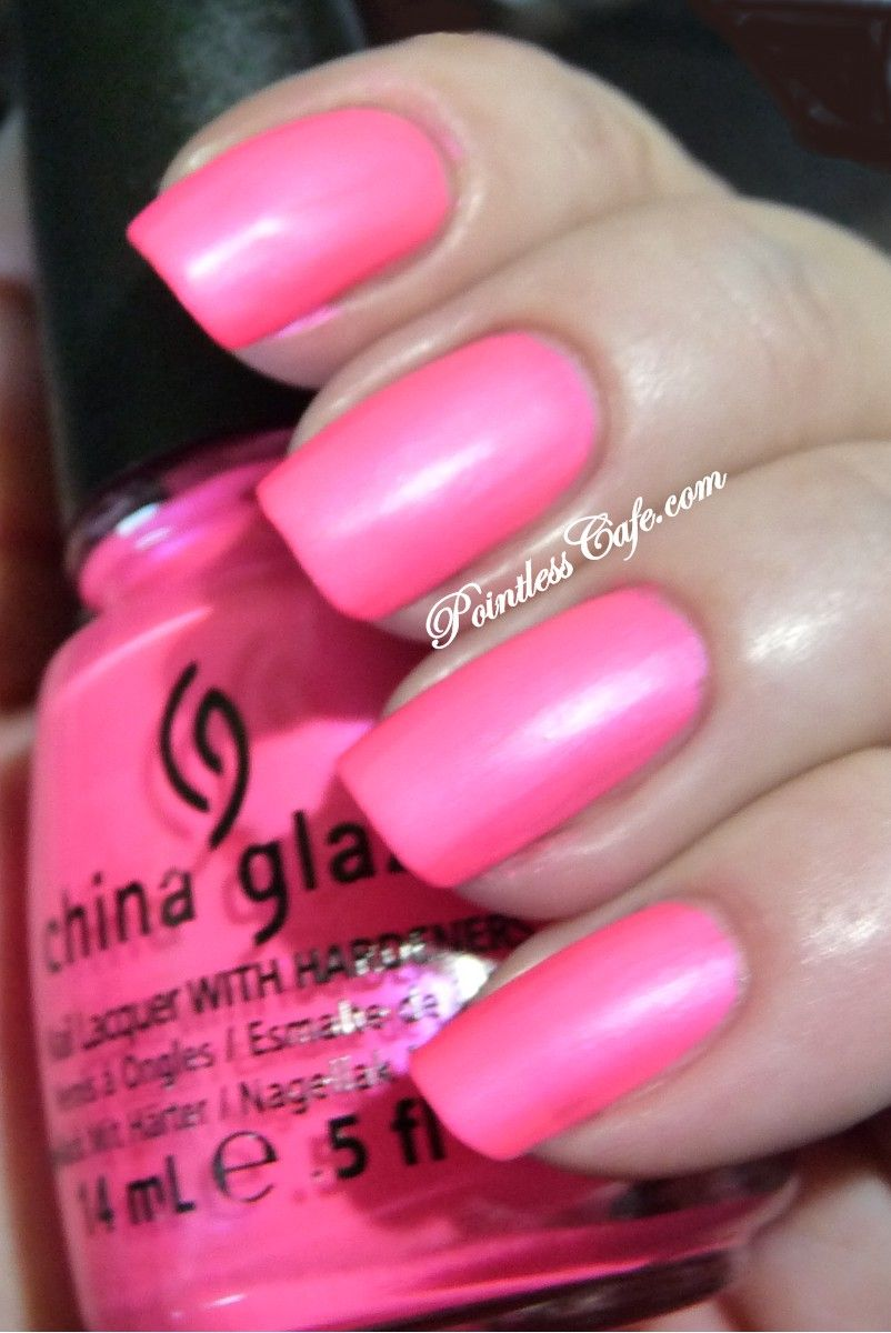 China Glaze Pink Voltage (Neon) -  Pointless Cafe