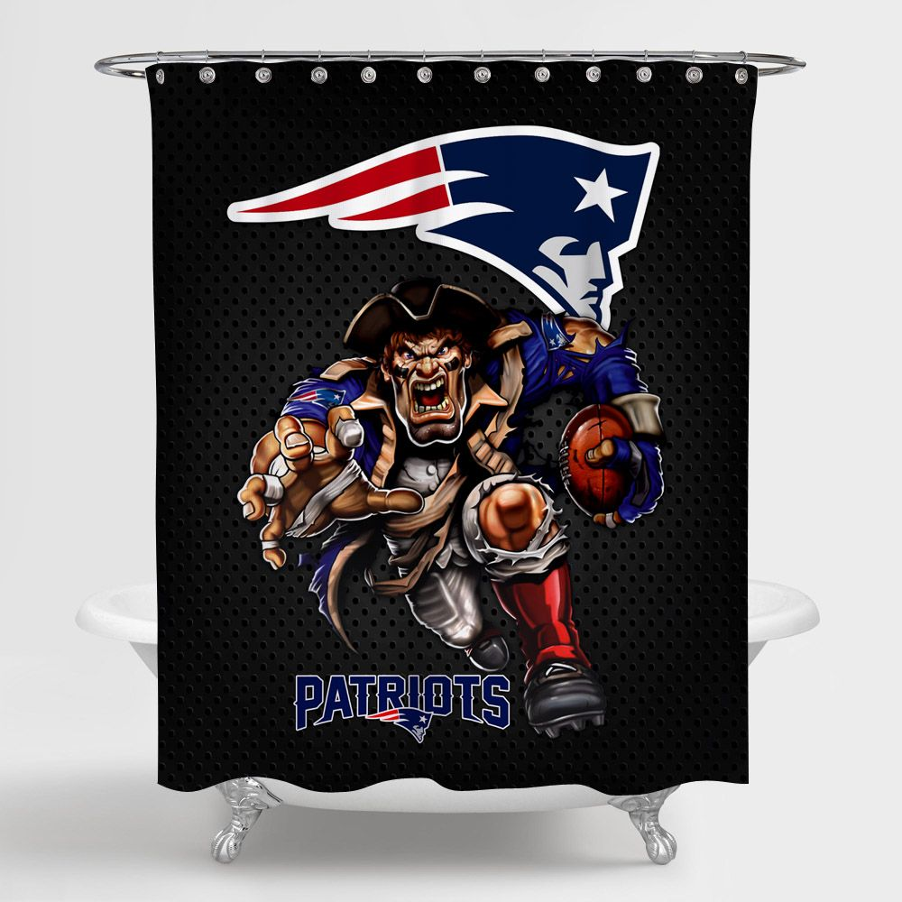 Nfl New England Patriot Mascots Shower Curtain 100 Polyester In