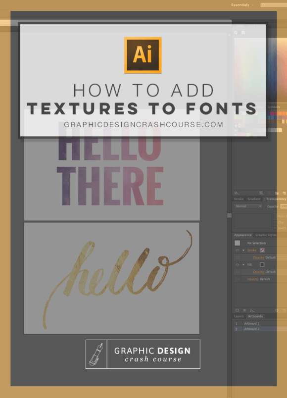 Watercolor gold foil other textures to fonts photoshop and in this adobe illustrator tutorial ill show you how to easily add watercolor ccuart Choice Image