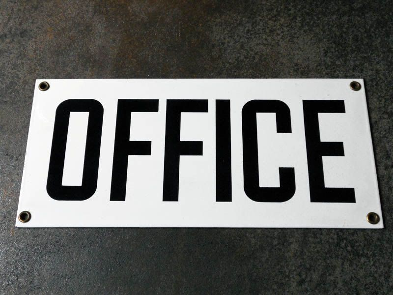 Attrayant Vintage Porcelain OFFICE Sign / Authentic By Crazeecowgirlvintage, $52.00
