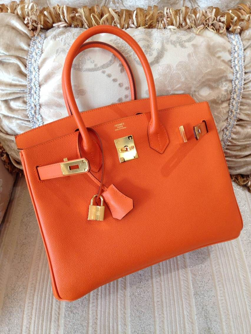9e815f1a09 Sacs de Créateur - Hermes Birkin 30CM Epsom Leather Gold Hardware R  Engraved Stamp