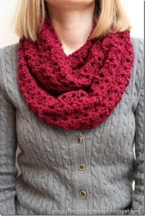 Crochet Double V Stitch Quick Infinity Scarf Infinity Free
