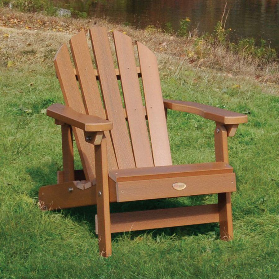 Shop Highwood USA Hamilton Toffee Plastic Folding Adirondack Chair ...