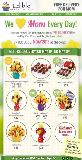 Barbaras Beat Edible Arrangments Has Free Delivery May 8 9 Edible Fruit Dip Free Delivery