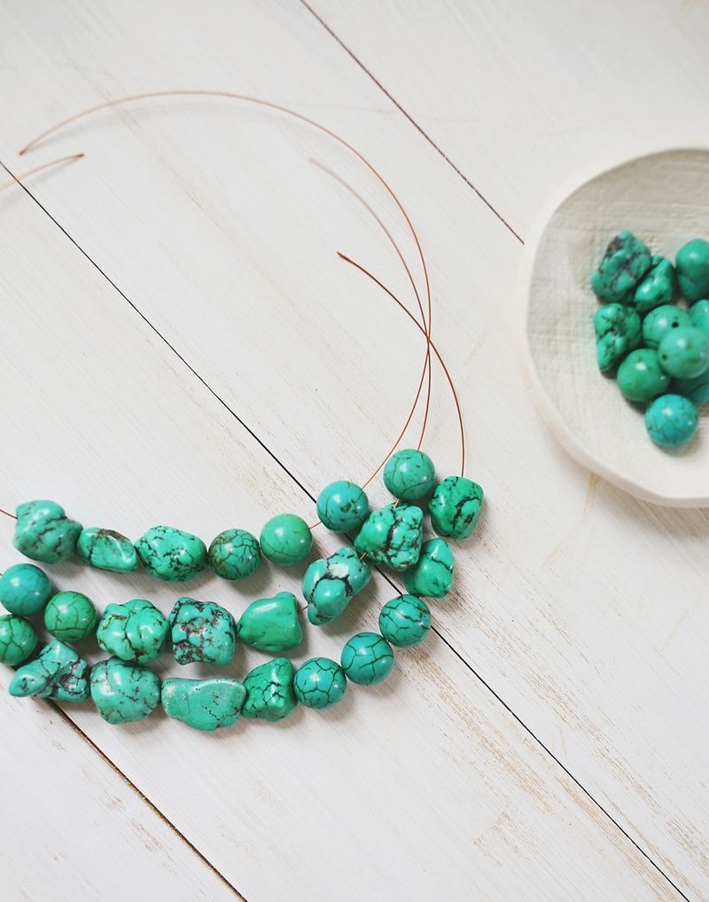 How to make a simple beaded necklace | How to make bead jewelry ...