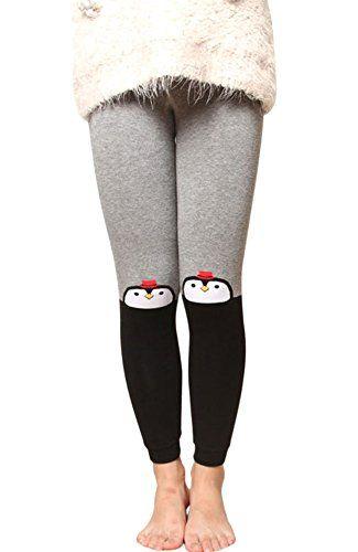 35b06a314135d6 Little Girls' Cute Cartoon Patchwork Leggings Kids Thick Tight Pants ...