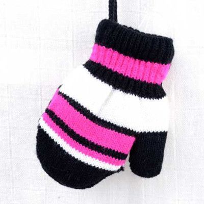 Cute Kids Striped Gloves Children's Double Warm Knit Winter Glove 2016 Pack Finger Halter Mittens Girls Boys Accessories 6 Color