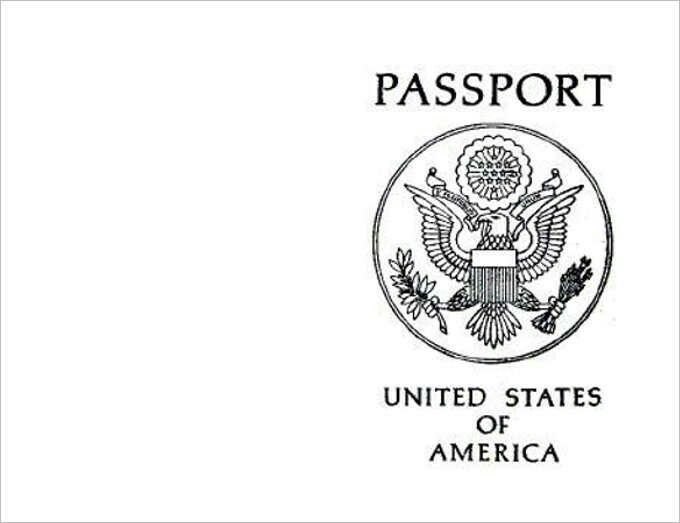 graphic about Free Printable Passport Template known as United states of america Pport printable Bible Faculty/Sunday College or university