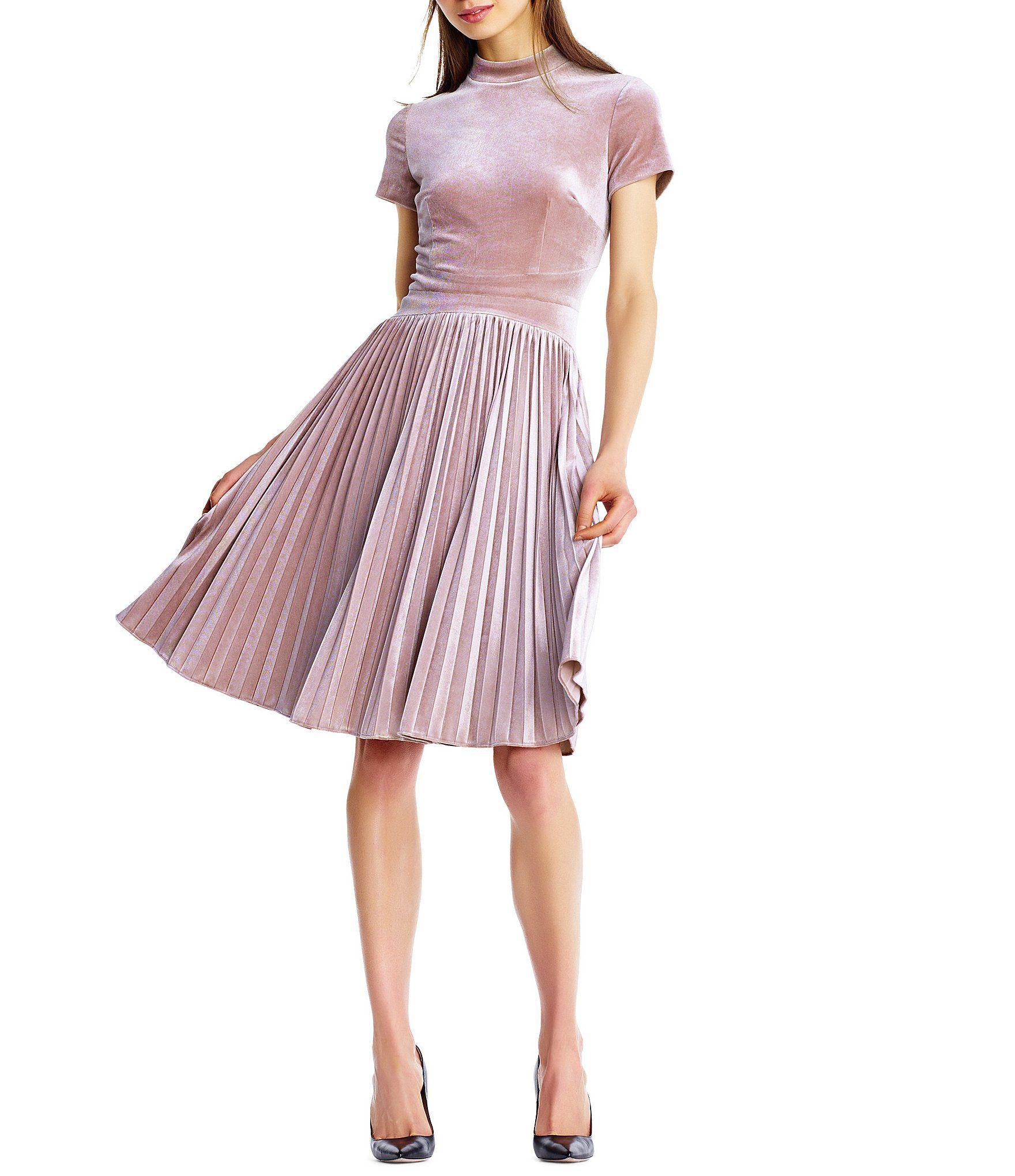 900a70bed83e Shop for Aidan Aidan Mattox Velvet Accordion Pleated Skirt Mockneck A-Line  Dress at Dillards.com. Visit Dillards.com to find clothing