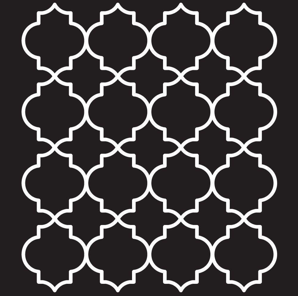 Plaid 4377 Folkart Moroccan Tile Painting Stencils 9 25