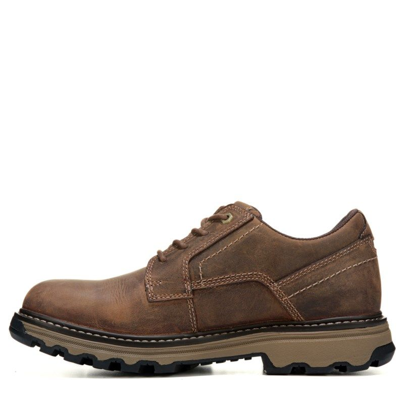 aa155f9faa61 Caterpillar Men s Tyndall Medium Wide Slip Resistant Work Shoes (Brown  Leather) - 14.0 M