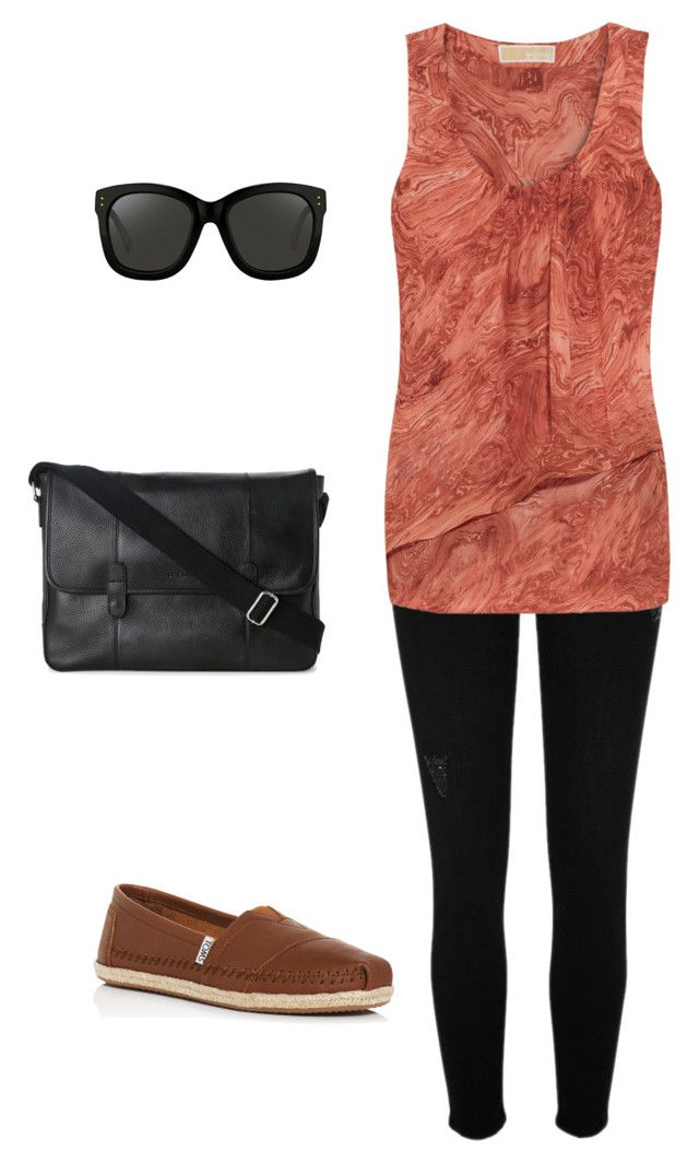 """""""Casual"""" by disfan ❤ liked on Polyvore featuring River Island, MICHAEL Michael Kors, TOMS, Cole Haan and Linda Farrow"""