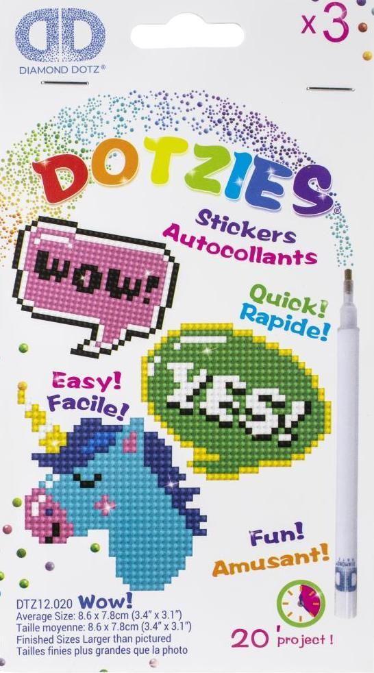 Diamond Dotz Wow Unicorn Word Bubbles Dotzies Sticker Facet Art Bead Craft Kit