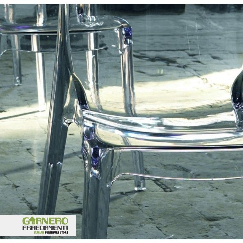 Sedia trasparente Cry policarbonato ideale per bar. Sedie eleganti ...