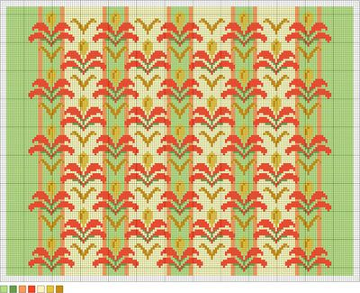 Nuveau Blossoms Full-Color Needlepoint Pattern