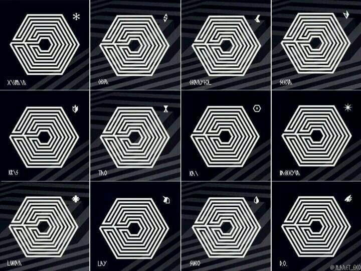 Logo's for each member. Overdose~ #EXO | Kpop | Pinterest ...