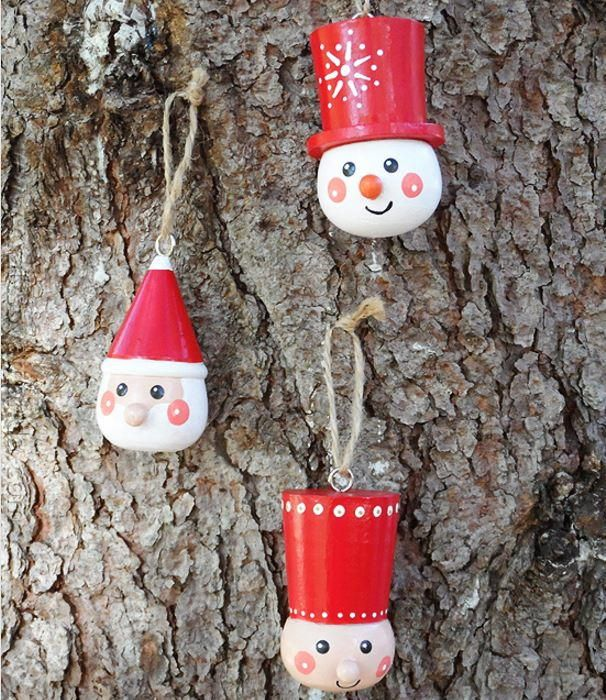 Scandinavian Style Wooden Ornaments Wooden Christmas Decorations Christmas Ornament Crafts Wooden Christmas Tree Decorations