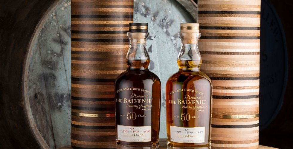 The Balvenie Fifty Personalized Whiskey Decanter Whisky Whiskey