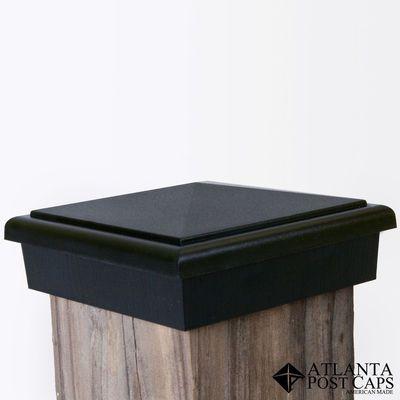 4x4 Post Cap Black Slim Profile Post Cap Wooden Posts Wood Post