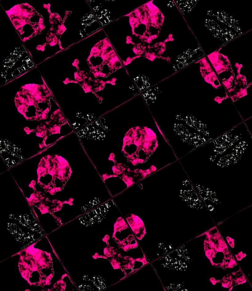 pink skull wallpaper 02 by