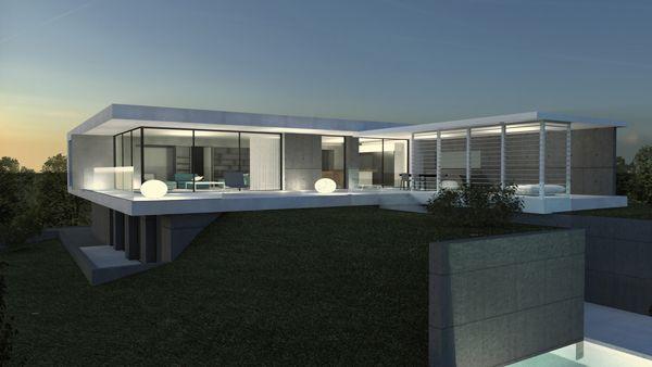 Maison contemporaine sur les Monts d\u0027Or Lyonnais Architecture