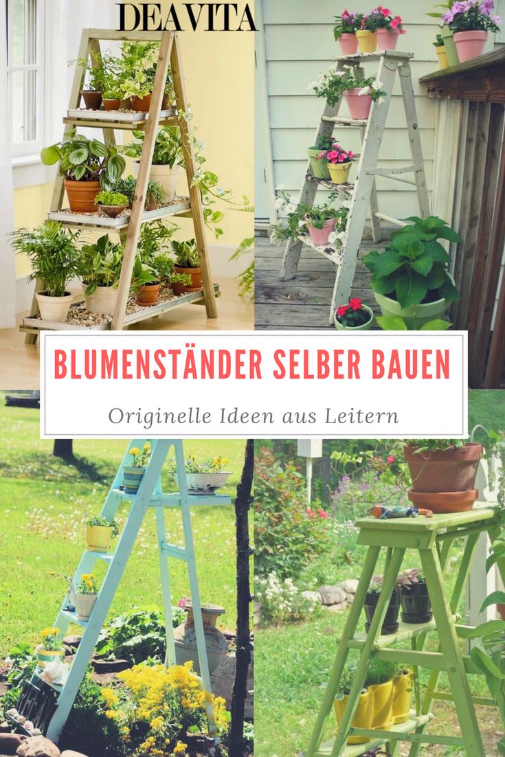 deko ideen holzleiter | worlddaily - Blumenstander Selber Bauen Alte Holzleiter