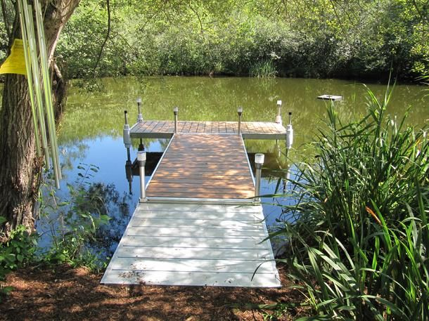 Pond dock designs small pond dock installation north for Pond pier plans