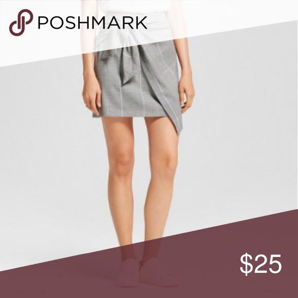738a5087dc Plaid knot asymmetrical skirt . Who What Wear Skirts Midi | My Posh ...