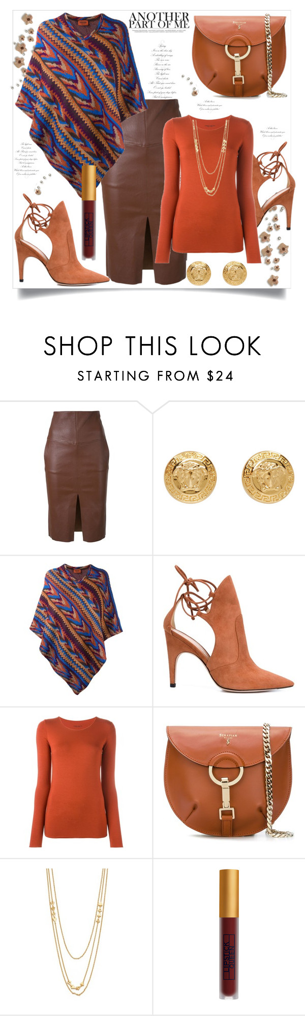 """Another Part of Me This Fall"" by helenaymangual ❤ liked on Polyvore featuring Scanlan Theodore, Versace, Missoni, Derek Lam, Roberto Collina, Serapian, Gorjana and Lipstick Queen"
