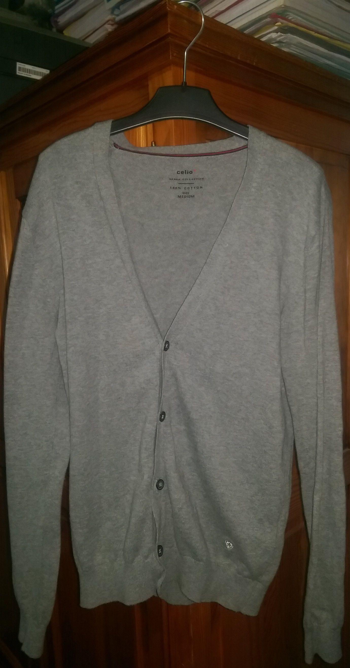Gilet Gris Celio Urban collection Manches longues 100% coton Taille ... bb2d8f58a34d