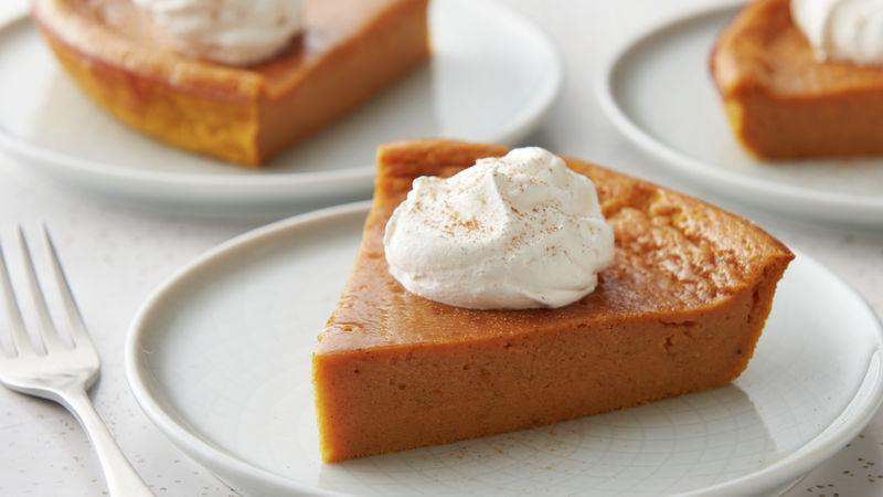 Impossibly Easy Pumpkin Pie Recipe Easy Pumpkin Pie Pumpkin Pie Recipes Thanksgiving Desserts Easy